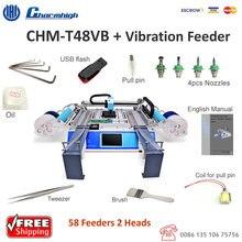 할인! Chmt48vb 58 피더 smt 픽앤 플레이스 머신 + 진동 피더, 배치 생산, charmhigh CHM T48VB
