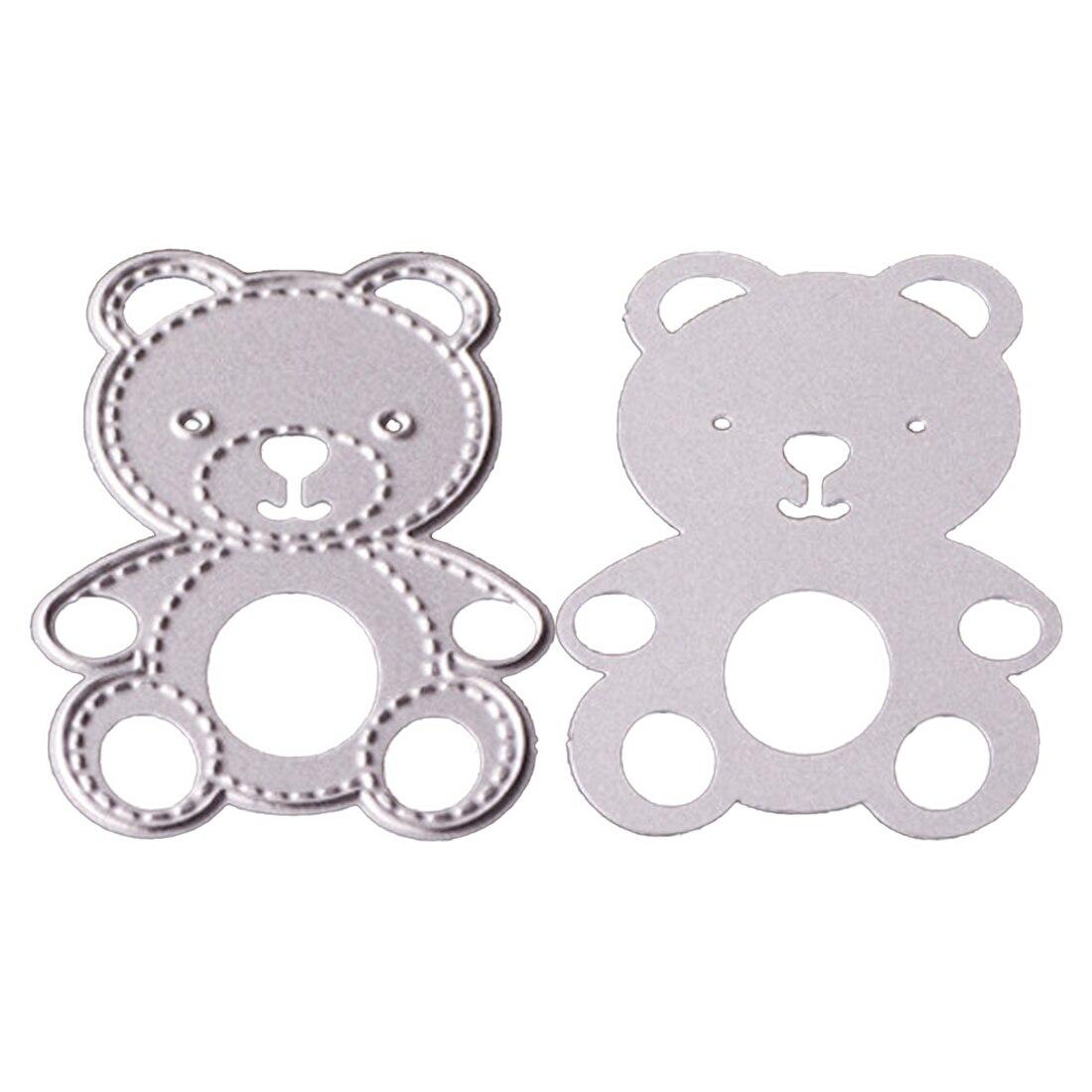 Plantillas de corte de metal para manualidades dise/ño de oso peque/ño