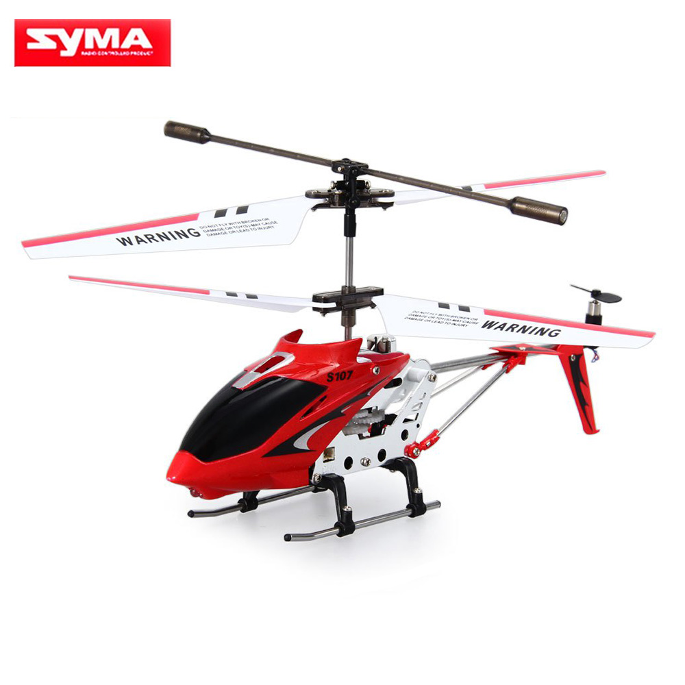 Original Syma S107G S107 Mini Drones 3CH RC Flytande Toy Gyro Radio Control Metal Alloy Fuselage RC Helicoptero Mini Copter Leksaker