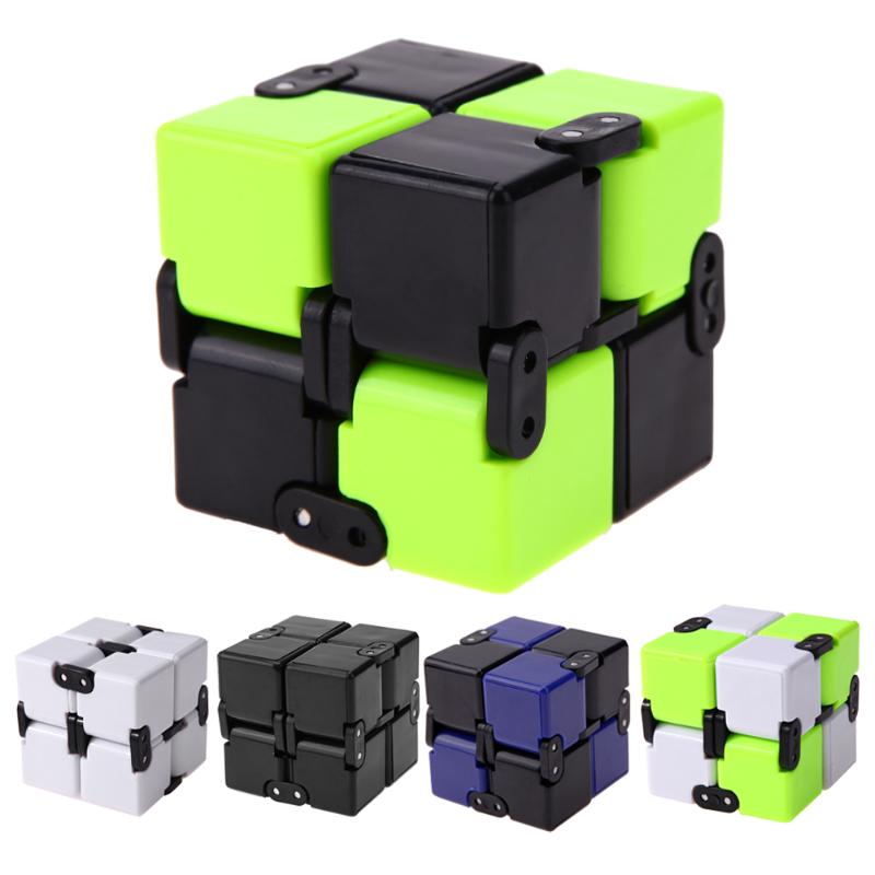 Infinity Cube Anti Stress Magic Door Hand Out Puzzle Game Toy Fidget Cube Finger Spinner for ADHD Kids Adults Toy Fidget Cube hot original infinity cube 2 metal high quality edc creative fidget cube toy anti stress relief hand spinner adult adhd oyuncak
