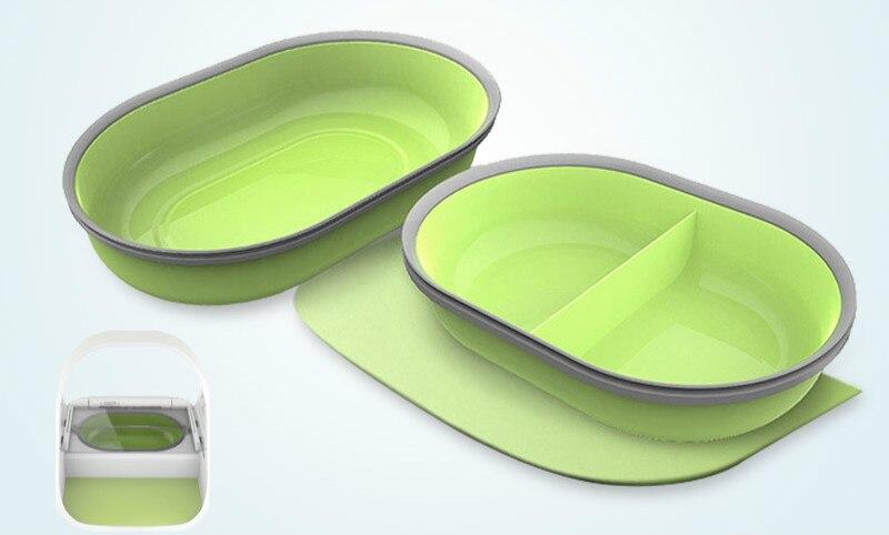 1 pièces mangeoire pour animal domestique accessoires bol tapis set 2 bols 1 tapis intelligent bol mangeoire pad chat chien