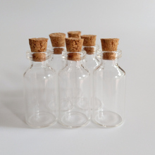 50pcs/lot 5ml wish glass vials with cork Transparent 18*40*7mm bottle Essential oil wishing Home crafts