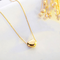 Lanseis Cute Love Heart Necklace Pendant Stainless Steel Pendant 1Pcs Love Brightly Warm Necklace Jewellery Choose
