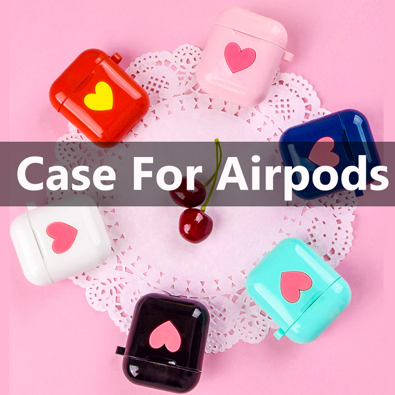 HEVARAL Cute Earphones Case For <font><b>Airpods</b></font> Case For i10 i20 <font><b>i30</b></font> i60 i80 <font><b>TWS</b></font> Lovely Protect Cover Waterproof Anti-Dirty For i200 image