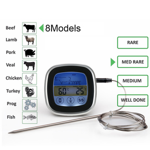 Image 2 - MOSEKO Digital Colorful Touchscreen Oven Thermometer Instant Read Probe Cooking Food BBQ Kitchen Thermometer with Timer Alert