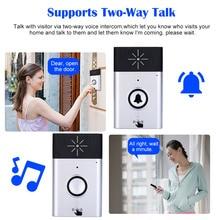 Wireless Voice Intercom Doorbell 2-way Talk Monitor with 1*Outdoor Unit Button 1* Indoor Receiver Smart Home Security Door Bell