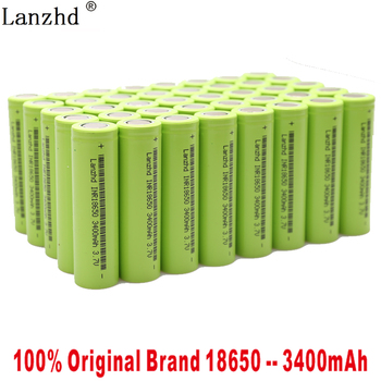 40pcs 2019 New large capacity 18650 lithium battery 3400mAh 3.7V for samsung 18650 toy rechargeable battery for  Electronic tool