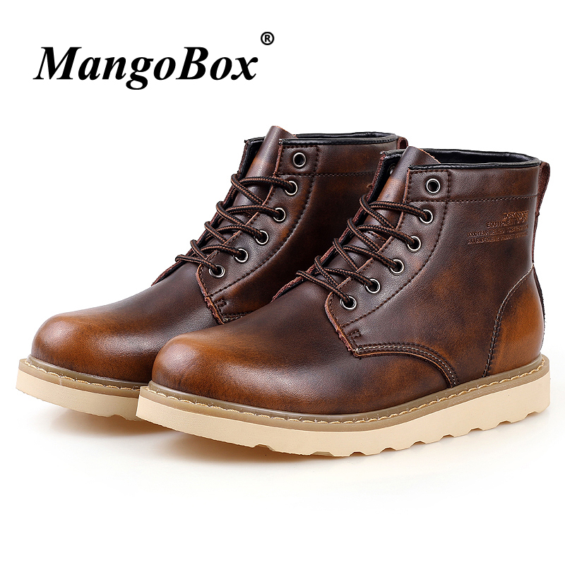 Basic Boots Spring Autumn Mens Casual Boots Red Black Mens Ankle Boots Comfortable Fashion Boots For Male Lace Up Tracking Shoes Men