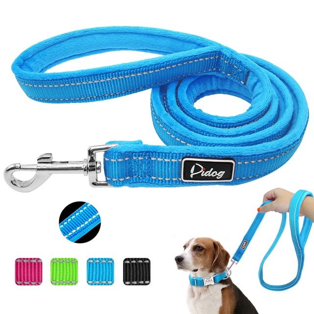 Riflettente Guinzaglio Del Cane di Nylon Caldo Imbottito Pet Walking Corda di Pi