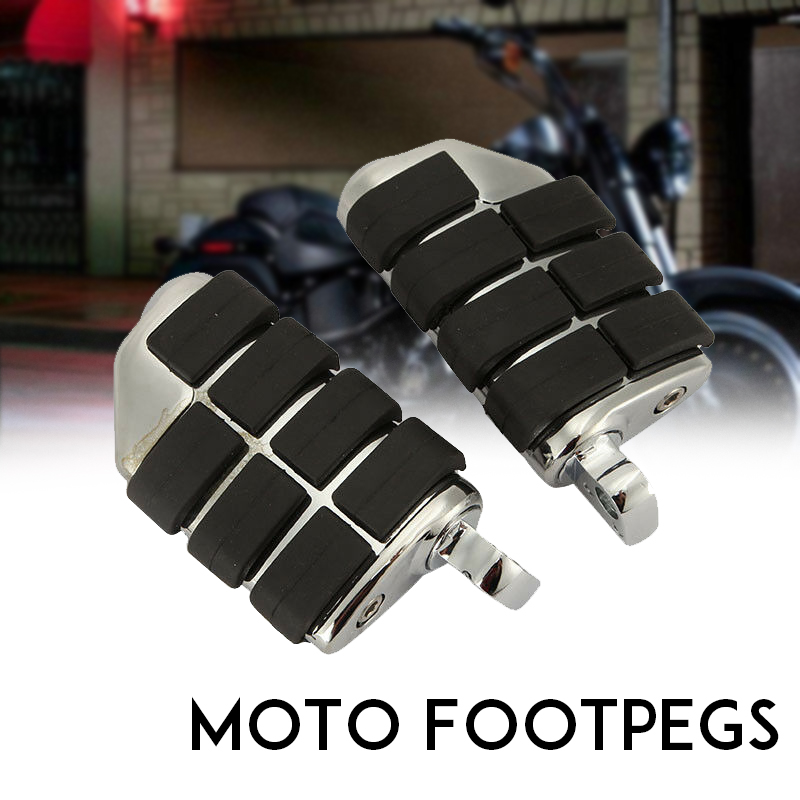Male Mount Footpegs Footrests For Harley Softail Sportster Dyna Glide Fat Boy Road King Honda GOLDWING