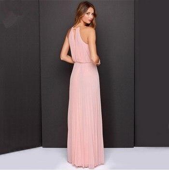 Halter maxi dress pink