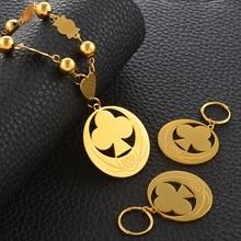 Anniyo colliers et boucles doreilles, perles pendantes Micronesia, avec anneau de printemps, bijoux ronds maréchaux, Guam hawaïen, cadeaux de mariage #098021