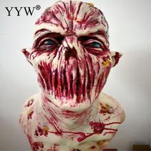 Scary Mask Halloween Horror Latex Zombie Masks Party Cosplay Bloody Full Face Masque Masquerade Mascara Terror Masker