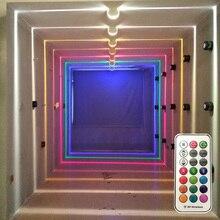 Thrisdar 10W RGB Led חלון דלת מסגרת קיר מנורת עם מרחוק מלון KTV מסעדה ספוט אור מעבר מסדרון Ray אוניית קיר אור