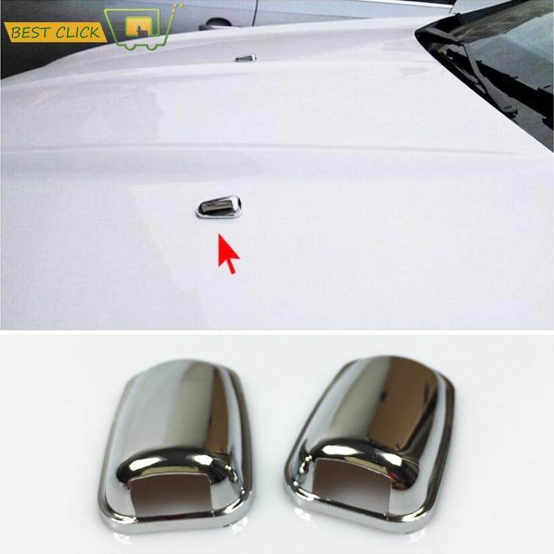 Насадка для омывателя лобового стекла, хромированная насадка для омывателя лобового стекла, распылитель воды, для Ford Focus MK3, Mondeo, MK4