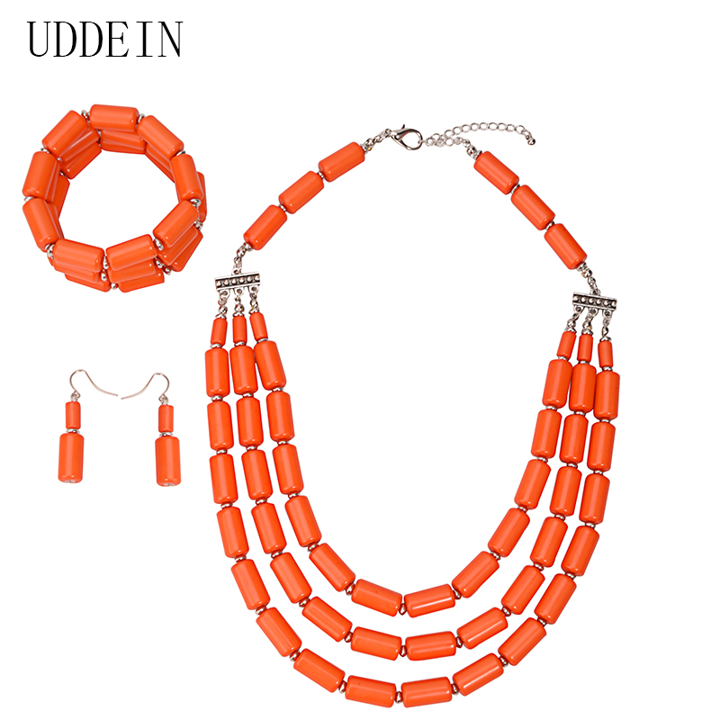 UDDEIN Jewelry Sets Bracelet African Beads Jewelry Set