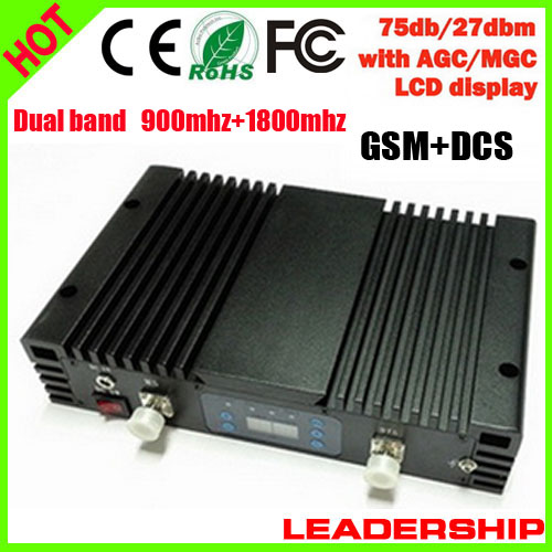 Free Shipping RF GSM+DCS 900mhz 1800mhz Dual Band 1W Cellular Mobile/cell Phone Signal Repeater Booster Amplifier Detector