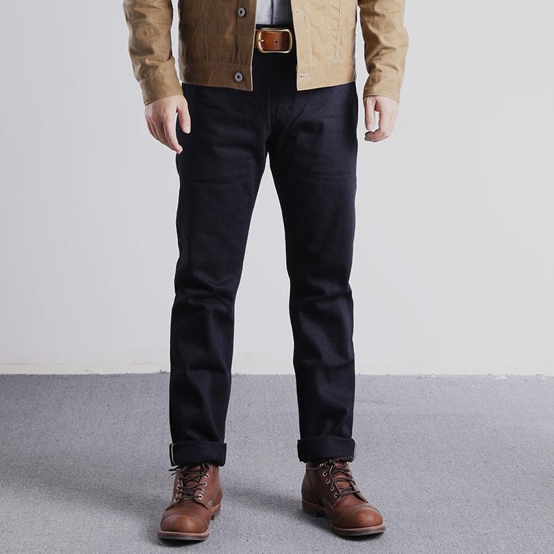 RGT-0006 Vintage 14 Oz Raw Indigo Selvage Stylish Trousers Mens Casual Chino Raw Denim Jean Pants