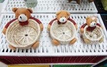 bear willow basket  storage box