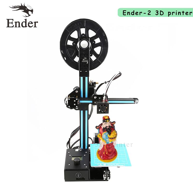 2018 Ender-2 imprimante 3D Prusa i3 kit de bricolage mini imprimante 3D grande taille d'imprimante 150*150*200mm et filament + 8G carte SD Creality 3D