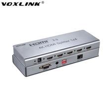 VOXLINK 4 Karat 1×2/1×4/1×8 HDMI Splitter 3D 1080 P 2 Port/4 Port/8 Port HDMI2.0/1,4 Splitter Extender w/HDCP2.2 EDID RS232 Für PS4 DVD