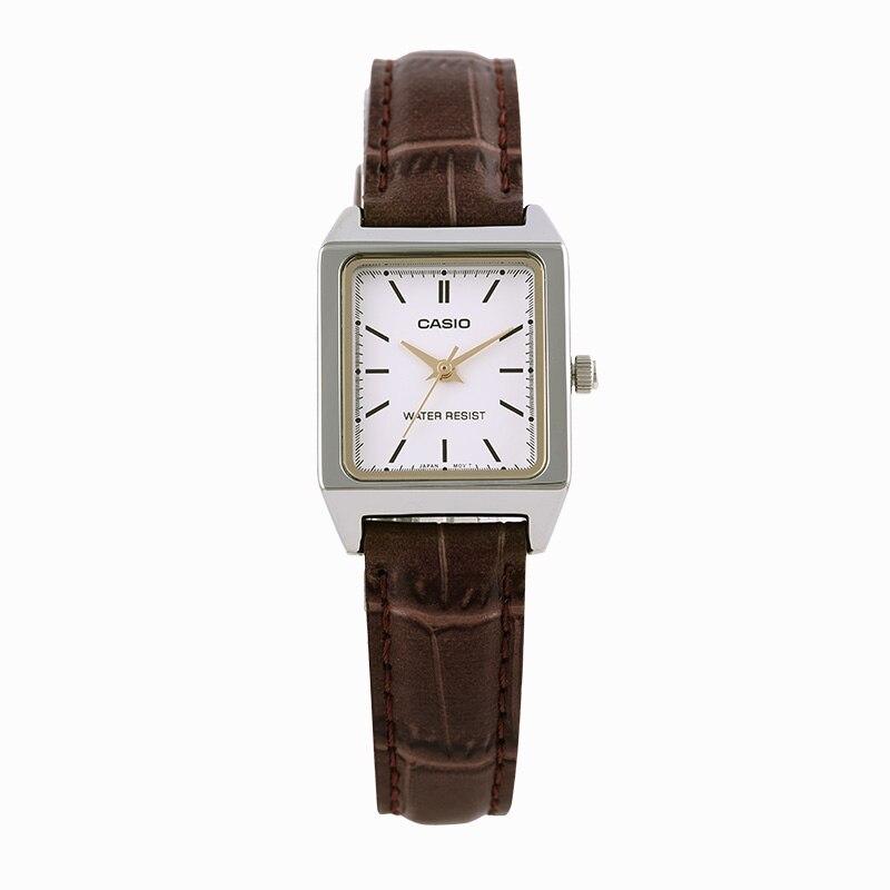 Casio Watch Fashion Square Lady Quartz Watch LTP V007L 7E2