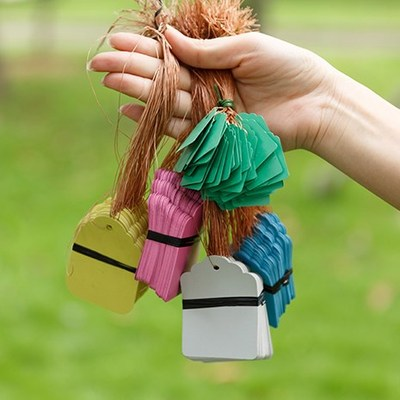 100Pcs/bag Waterproof Strip Line Gardening Labels Gardening Tree Signs Plant Hanging Tags Garden Labels Flower Tags Plant Lab