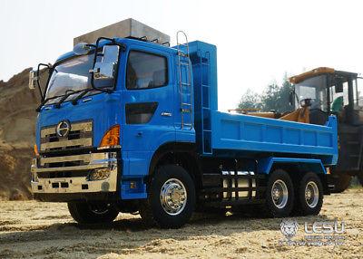 LESU RC Hino 6*6 Hydraulic Dumper Truck 3 Axle Model Car Motor ESC 1/14 TAMIYA