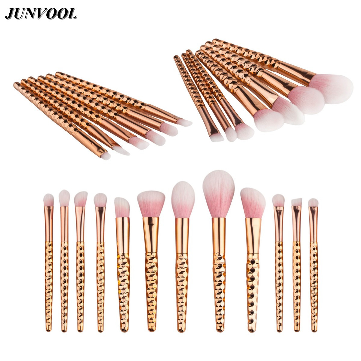 Grasp Handle Rose Gold Makeup Brushes Kit Set for Eyeshadow Contour Top Soft Pink Fiber Hair Cosmetics Make Up Brush Beauty Tool new store free shipping beauty and the beast rose gold makeup brush cosmetic brush woman gift eyeshadow contour concealer