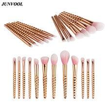 Grasp Handle Rose Gold Makeup Brushes Kit Set for Eyeshadow Contour Top Soft Pink Fiber Hair Cosmetics Make Up Brush Beauty Tool
