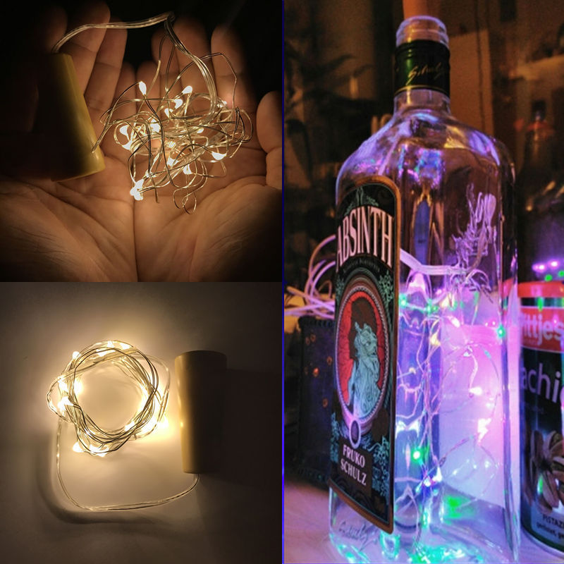2M LED Garland Copper Wire Corker String Fairy Lights for Glass Craft Bottle New Year/Christmas/Valentines Wedding Decoration bison rolling grill