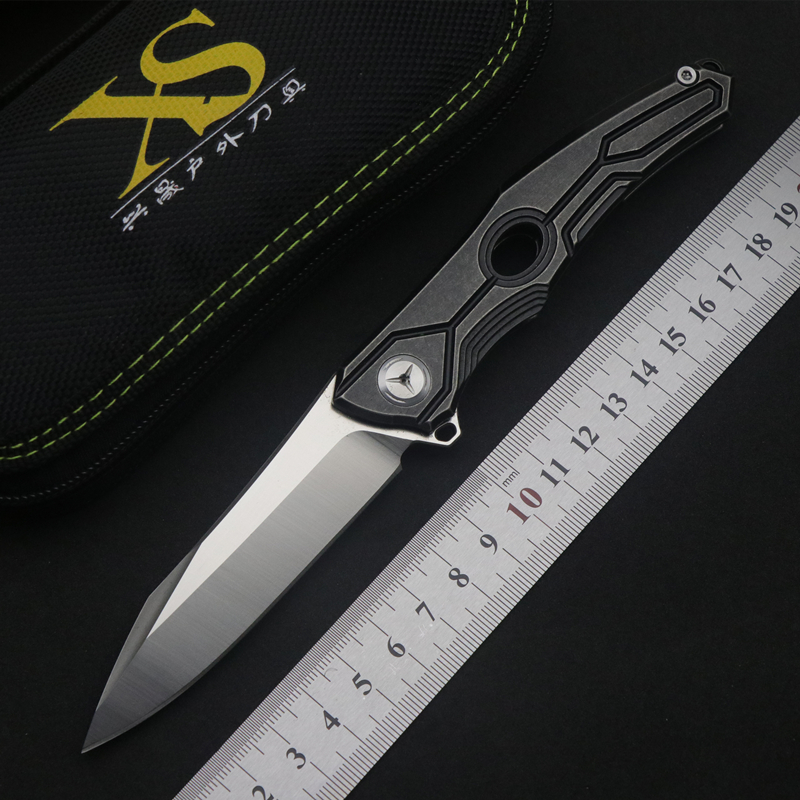TS28 flip folding knife ball bearing D2 blade titanium alloy handle outdoor camping multi purpose hunting