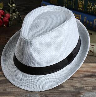 10 Teile/los Freies Verschiffen Sommer Stil Frau Mann Stroh Jazz Hut Feste Beiläufige Erwachsene Hut Strand Cowboyhut Exzellente QualitäT