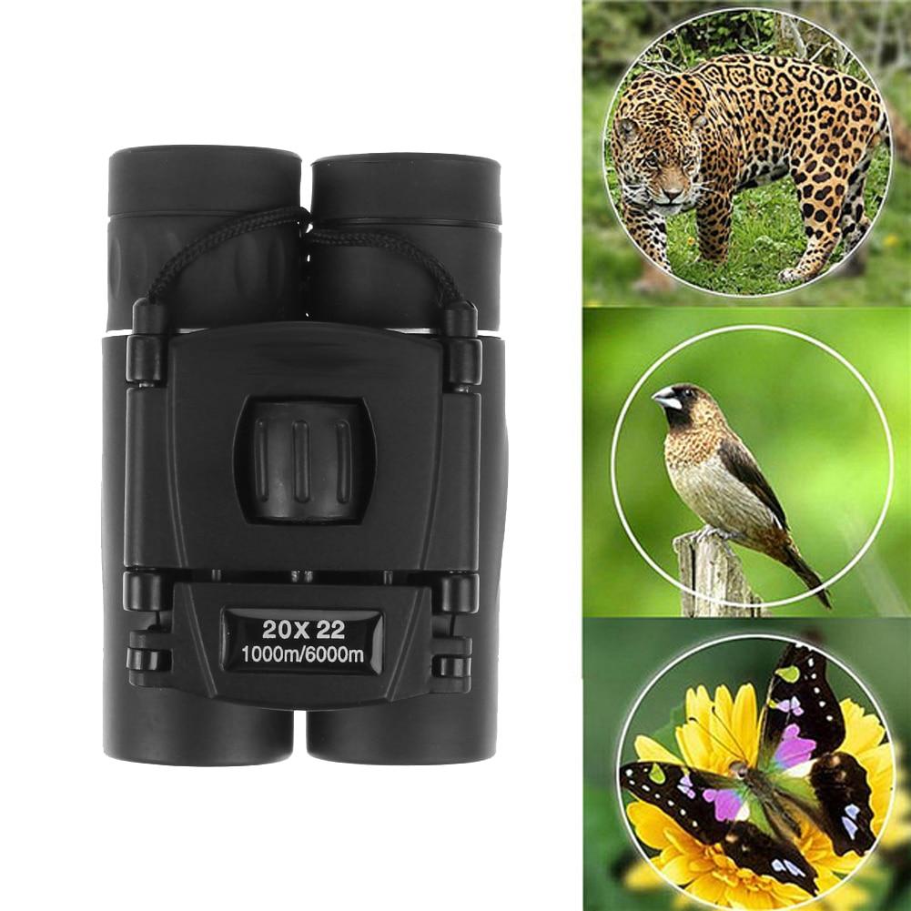 20x22 font b Binoculars b font Telescope Mini Dual Focus Compact Pocket size 1000m 6000m for