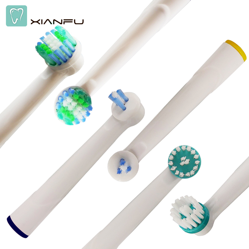 4PCS Electric Toothbrush Heads For Braun Oral B Replacement Tooth Brush heads oral Hygiene vitality sensitive nozzles heads 8ps for oral b sensitive gum care electric toothbrush replacement brush heads refill sensitive brush heads extra soft bristles