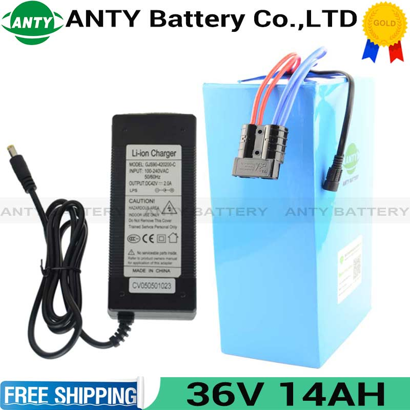 36v Lithium Battery 14Ah 500W eBike Battery 36V with 42V charger 15A BMS Electric Scooter Battery 36v Rechargeable Battery 36v