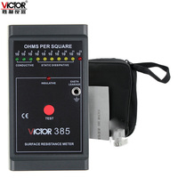 VC385 Surface Resistance Tester Anti Static Tester Handheld Automatic Range Resistance Meter