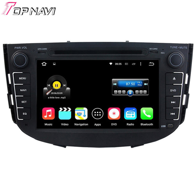Top Quad Core Android 5.1.1 Car DVD Player For LIFAN X60 2011-2012  With Stereo Radio GPS Wifi Bluetooth DHL Free Shipping