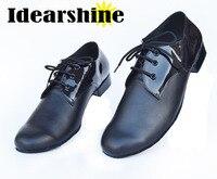 Black Genuine Cow Leather Latin Dance Shoes Man Salsa Ballroom Dancing Shoes Jazz Shoes Zapatos De Baile Latino #6199