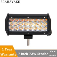 ECAHAYAKU 1x 72W 7 3-Row 5 light type LED Work Light Bar Offroad Driving Lamp for 12V 24V Truck SUV 4x4 4WD Boat fog