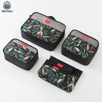 INHO CHANCY Waterproof Polyester Travel Accessories Floral Spring 6 Pcs Packing Cubes Luggage Packing Organizers Suitcase