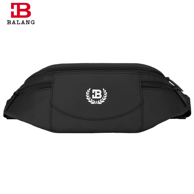 BALANG Brand 2018 Men Black Waterproof Waist Bags for Men Fashion Cigarette Phone Money Belt for Travel Security Wallet Purse