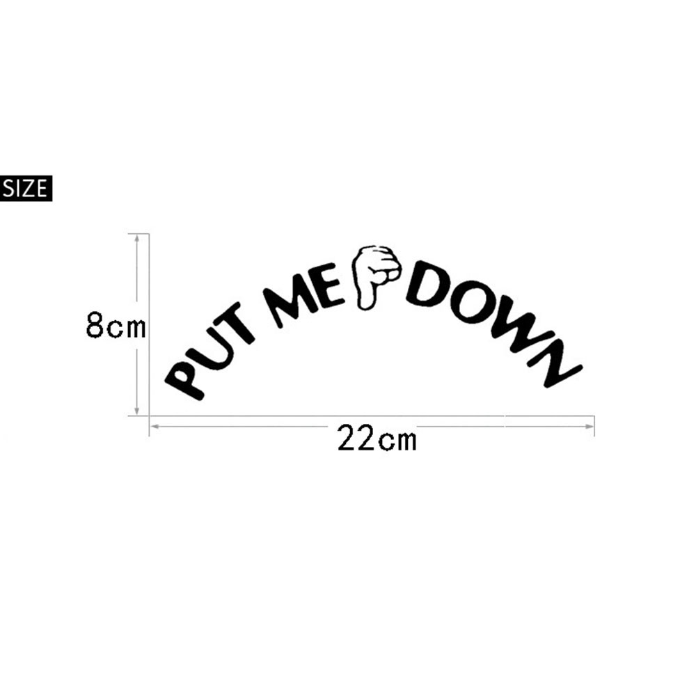 Funny bathroom signs - Ishowtidenda Gesture Hand Toilet Seat Wall Sticker Decal Funny Bathroom Sign For Put Me Down Suitable
