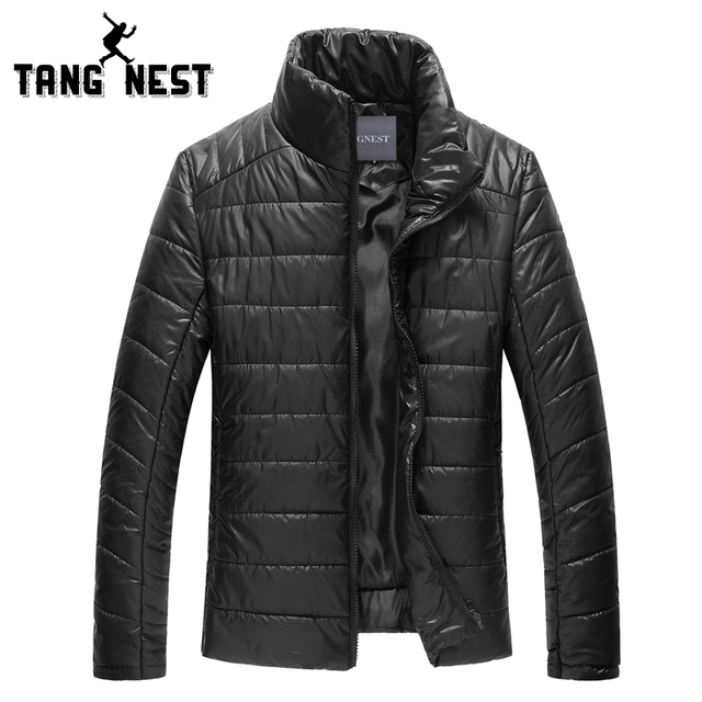 TANGNEST Newest 2017 Warm Winter Man's Jacket All-match Necessary Casual Fit Men Coat Solid Size M-XXXL Coat For Male MWM910