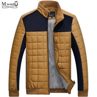 2015 New Autumn Winter Men Casual Brand Thick Jacket Warm Coats Plus Size Leather Patchwork Jackets