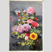 100% Hand Painted Super Clear Peony High-quality Art Painting On Canvas Wall Adornment Pictures For Home Decor