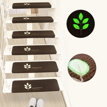 5 Pcs Luminous Staircase Floor Mats Self-adhesive Stair Carpets Home Office Stairway Sticker Non Slip Stair-steps Rugs