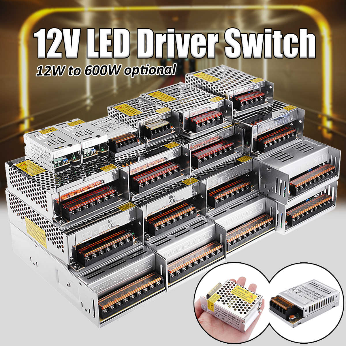 12V 12/15/24/36/48/60/72/100/120/150/180/200/240/300/400W Switching Power Supply Driver For LED Strip Led Adapter