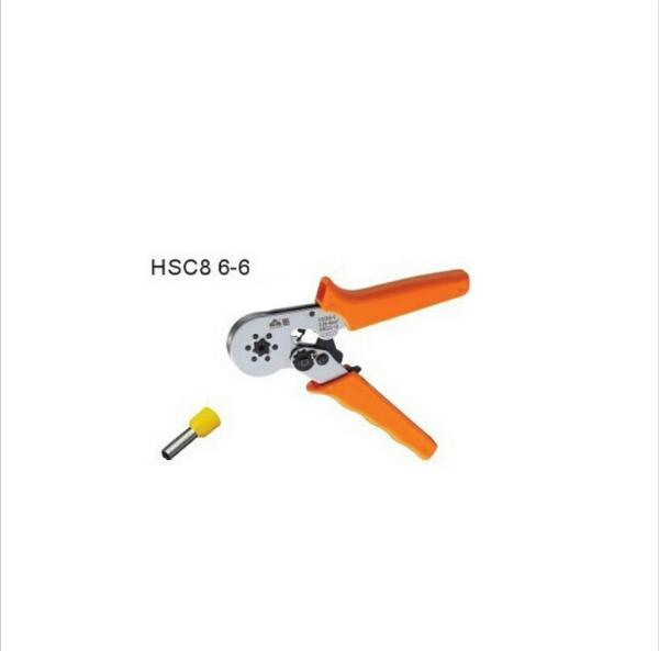HSC8 6-6 0.25-6 mm2 crimping tools for wire end sleeves high quality multi-function crimping pliers tube crimping pliers hexagon casing pipe plier for wire ferrules hsc8 6 6 special casing tube crimping crimping pliersend sleeves