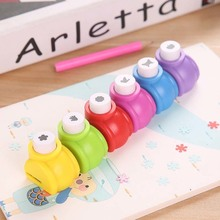 1PCS  Child Mini Printing Paper Hand Shaper Stamp Mold Scrapbook Tags Cards Craft DIY Punch Cutter Tool Kids Toy Stamp